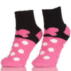 Soft Fuzzy Socks Girls, Womens Warm Microfiber Slippers Socks With Non Skid Sole