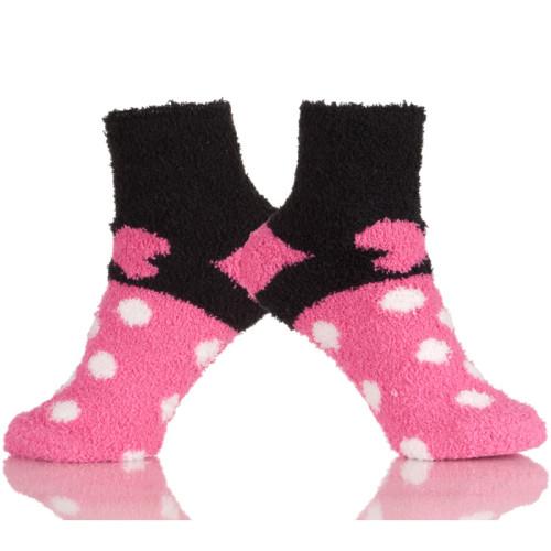 Soft Fuzzy Socks Girls, Womens Warm Microfiber Slippers Socks With Non Skid Sole