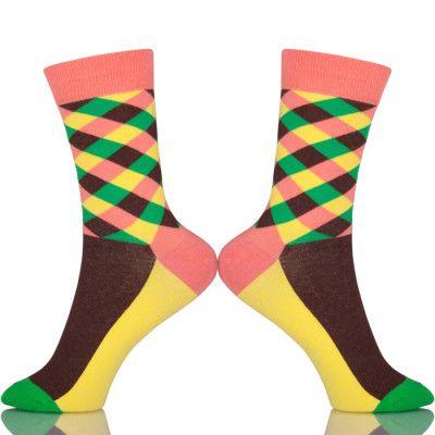 Korean School Colorful Stripes Socks