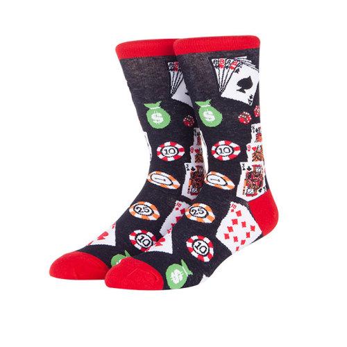 Fashion High Quality Men's Fun Cotton Creative  Crew Socks
