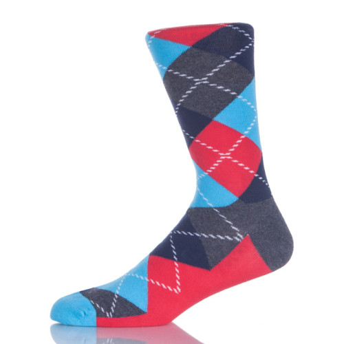 Cotton Crew Design Socks 100% England Style Color Striped Brand Man Sock For Male
