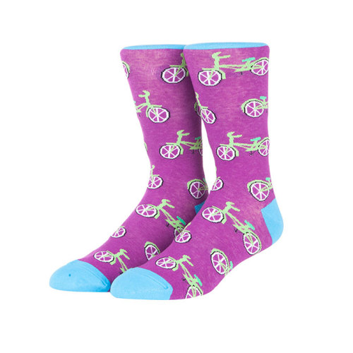 Wholesale Custom Bicycle And Scooter Pattern Fashion Cartoon Men Tube Funny Socks