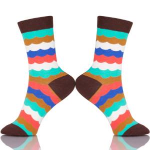 Cotton Colorful Stripes Socks Women Dresses