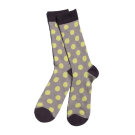 Knee High Polka Dot Men Happy Custom Socks