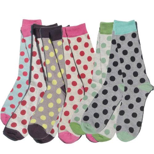 Knee High Polka Dot Men Happy Custom Socks