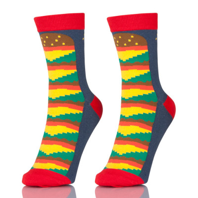 China Factory Mixed Color Wholesale Happy Socks