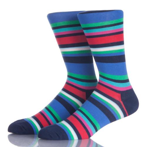 Stripes Fashion Men Bright Color Socks