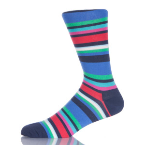Stripes Fashion Men Bright Color Socks