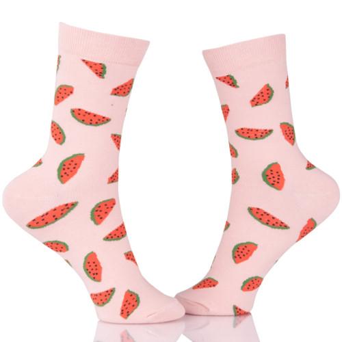 Handmade Sock Loom Knitting Fruit Pink Socks