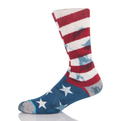 sublimation printing cotton quality socks custom