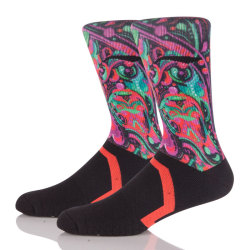 Customized Logo Manufacturer OEM Wholesale Sublimated Basketball Sport Socks