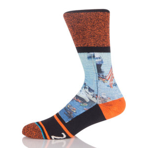 Wholesale Custom Running Sport Basketball Cotton Sublimation Socks For Men