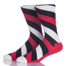 Ladies Customized Colorful Stripes Long Socks For Boots