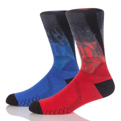 360 Degree Digital Print Socks ,Cotton 3D Printed Crew Badminton Socks
