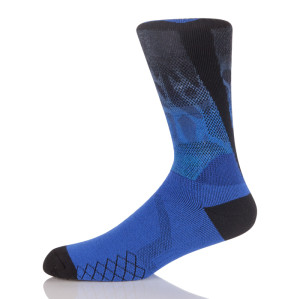 360 Degree Digital Print Socks ,Cotton 3D Printed Crew Badminton Socks