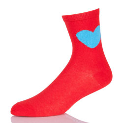 Wholesale Custom Ladies Colored Crew Socks Womens Red Athletic Socks