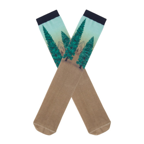 Digital Print Skin Brown Men's Crew Socks Sublimation Custom
