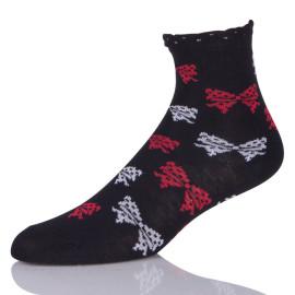 Novelty Ankle Black Wide Wool Boot Socks For Women