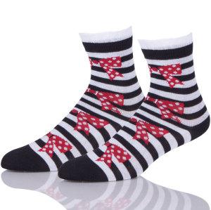 Short Socks Women's Short Wool Ladies Striped Socks