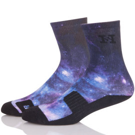 Print Men's For Running Crew Socks ,Low Cut Compression Socks