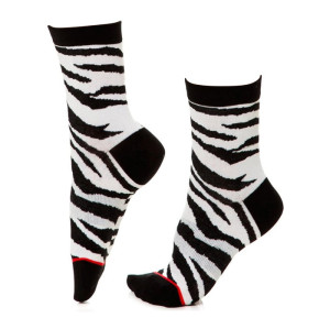 Hot Sale Cotton Crew Socks Cartoon Animal Zebra Women Socks For Spring Autumn Winter