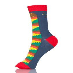 Creative Colorful Striped Cartoon Combed Cotton Socks Crew Casual Crazy Funny Socks