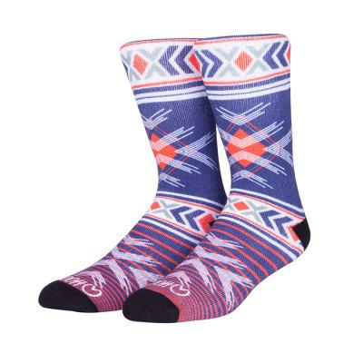 Custom Digital Print Knitted Compression Crew Socks