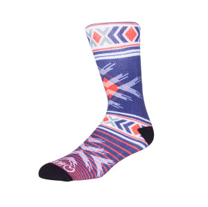 Custom Digital Print Knitted Compression Crew Socks
