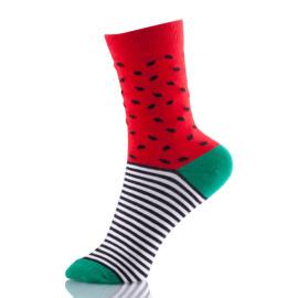 Hot Novelty Fruit Pattern Watermelon Personality Jacquard Cotton Women Socks Casual Cute Socks