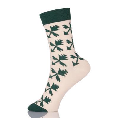 Fashion Women Retro High Street Socks Casual Mid houndstooth Pattern Cotton Socks