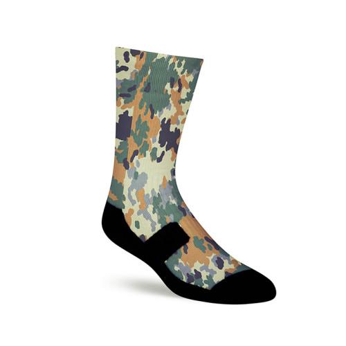 Custom Camouflage Athletic 360 Sublimation Digital Print Socks For Boys