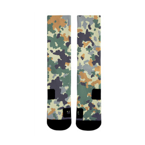 Custom Camouflage Athletic 360 Sublimation Digital Print Socks For Boys