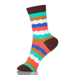 Colorful Fashion Design High Quality Combed Cotton Stripes Business Casual Socks