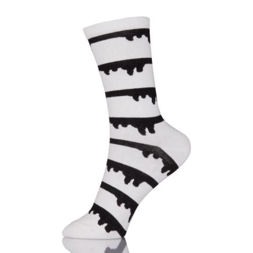 Fashion Cute Soft Novelty Cotton Women Socks Kawaii Funny Black And White Socks