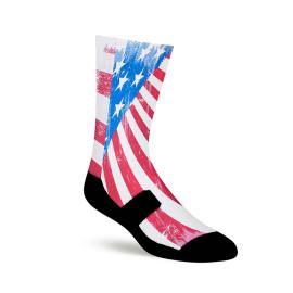 Custom Flag OEM 360 Printing Sublimation Socks Bulk Compression Socks Wholesale