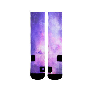 Wholesale Sublimated Print Purple Sky Blank Socks Sports Men