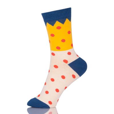 Women Cute Wave Point Socks Female Casual Cotton Socks Dot Patchwork Warm Socks