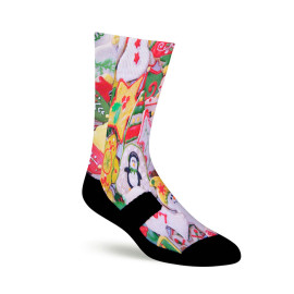 Sublimation Socks Blank Custom Logo 360 Degree Digital Print Socks