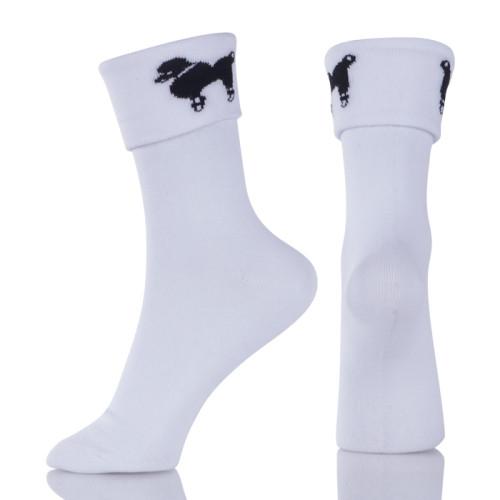 Women Socks Breathable Sports Socks Solid Color Comfortable Cotton Ankle Socks White