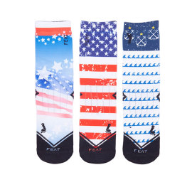 White Socks For Sublimation Soccer Print Socks Custom