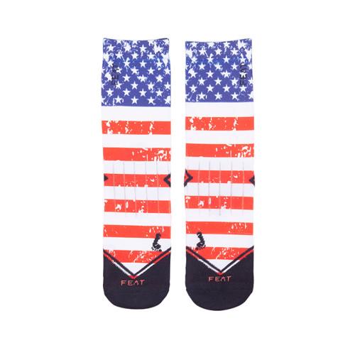 White Socks For Sublimation Soccer Print Socks Custom