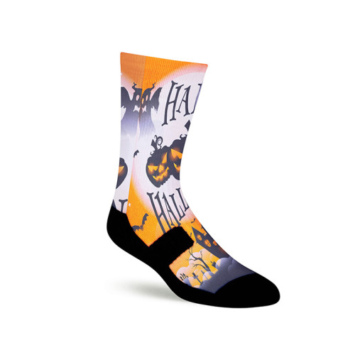 Halloween Style Colorful Men Fashion Design 3D Printed Sublimation Socks Sporty