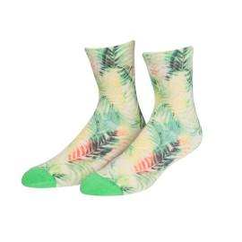 Green Tropical Leaves Pattern Fashion Custom Compression Socks Wholesale Socks