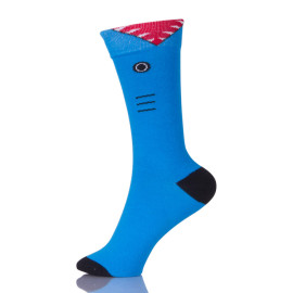 Female Socks Blue Cotton Women Ankle Hose Students Girls Casual Colorful Socks