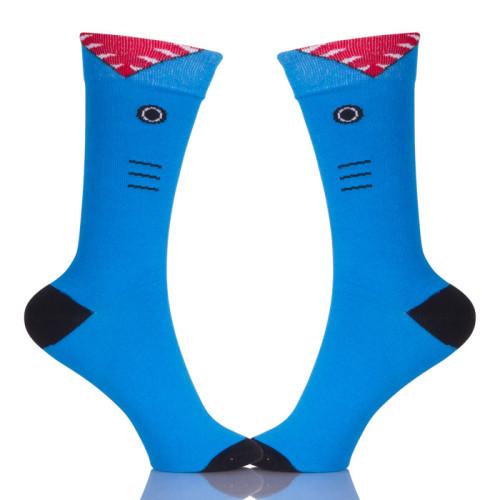 Female Socks Blue Cotton Women Ankle Hose Students Girls Casual Colorful Socks