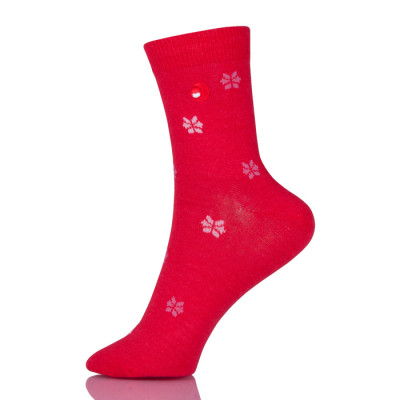 Cotton Women Snowflake Socks Soft Low Cut Tube Socks Sokken Vrouwen