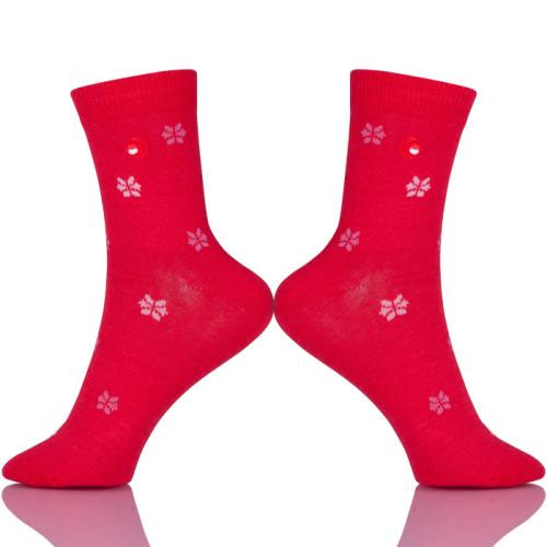 Cotton Women Snowflake Socks Soft Low Cut Tube Socks Sokken Vrouwen