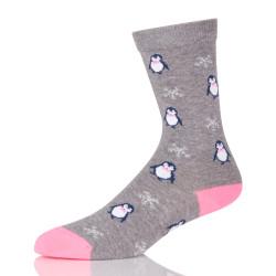 Fashion Sock Cute Penguin Animal Printed Female Cotton Cool Fancy Autumn Breathable Warm Socks