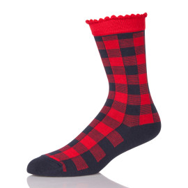 Fashion Style Unisex Street Cotton Socks Fun Plaid Pattern Socks meias