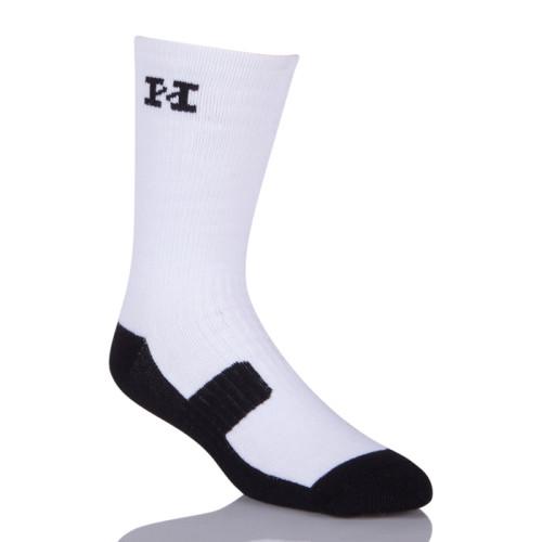 Custom Athletic Sublimated Hockey Blank White Sublimation Socks